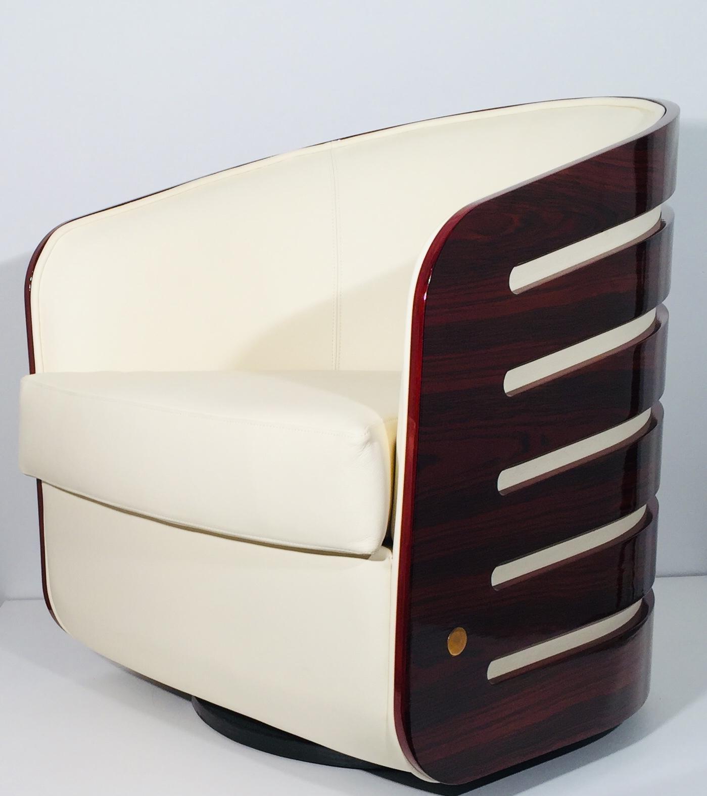 espace design bordeaux fauteuils pivotant cuir bois