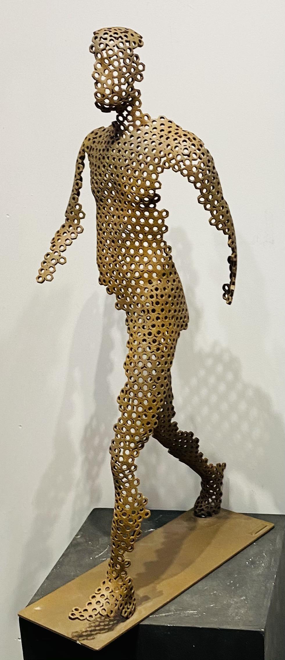 sculpture en écrous