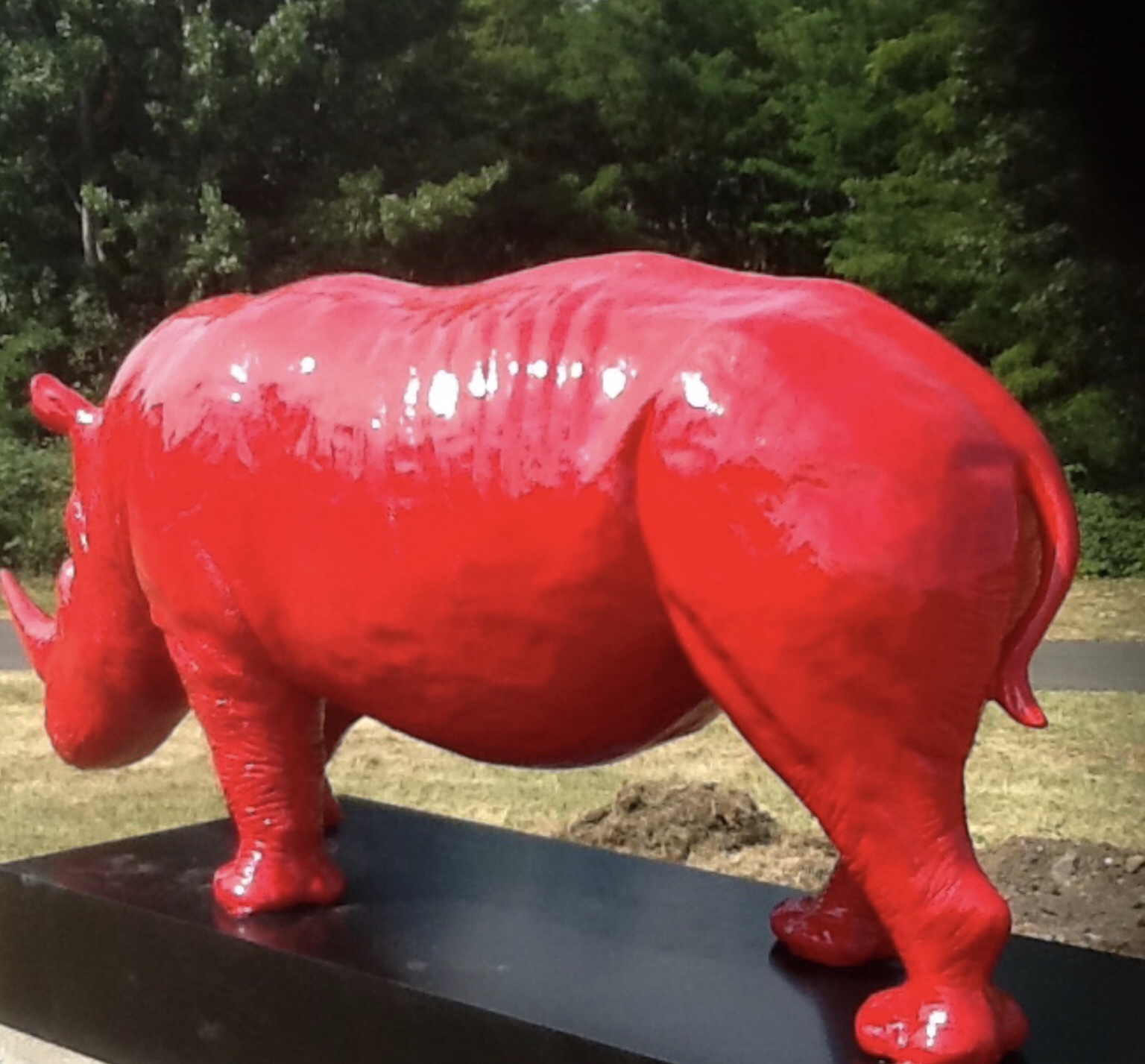 rhinoceros en fibre de verre