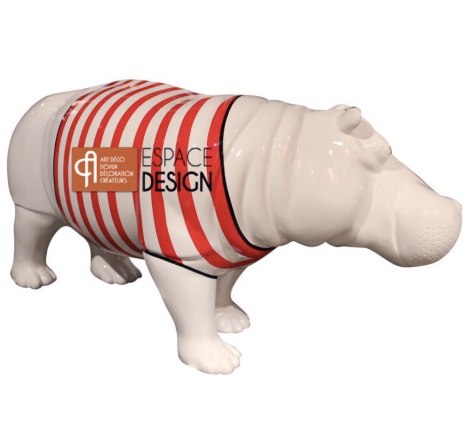 hippo en fibre de verre mariniere