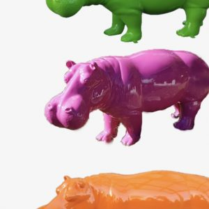 hippo en fibre de verre uni