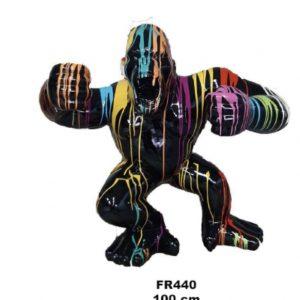 gorille en résine coulures de peinture