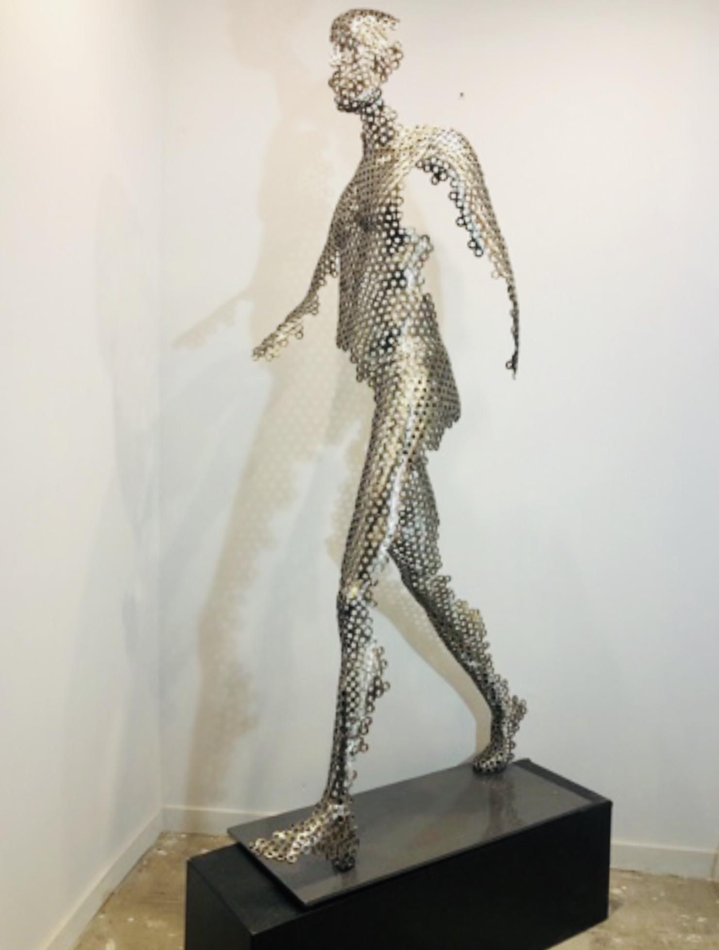grande sculpture écrous
