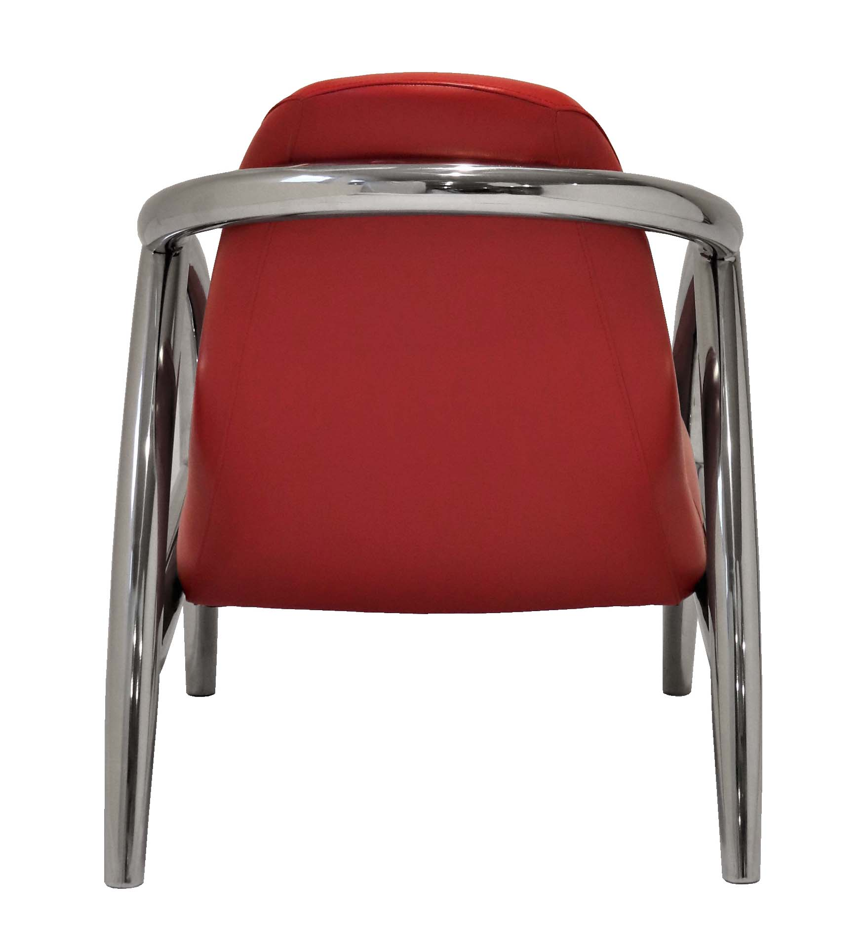 fauteuil chrome cuir vintage