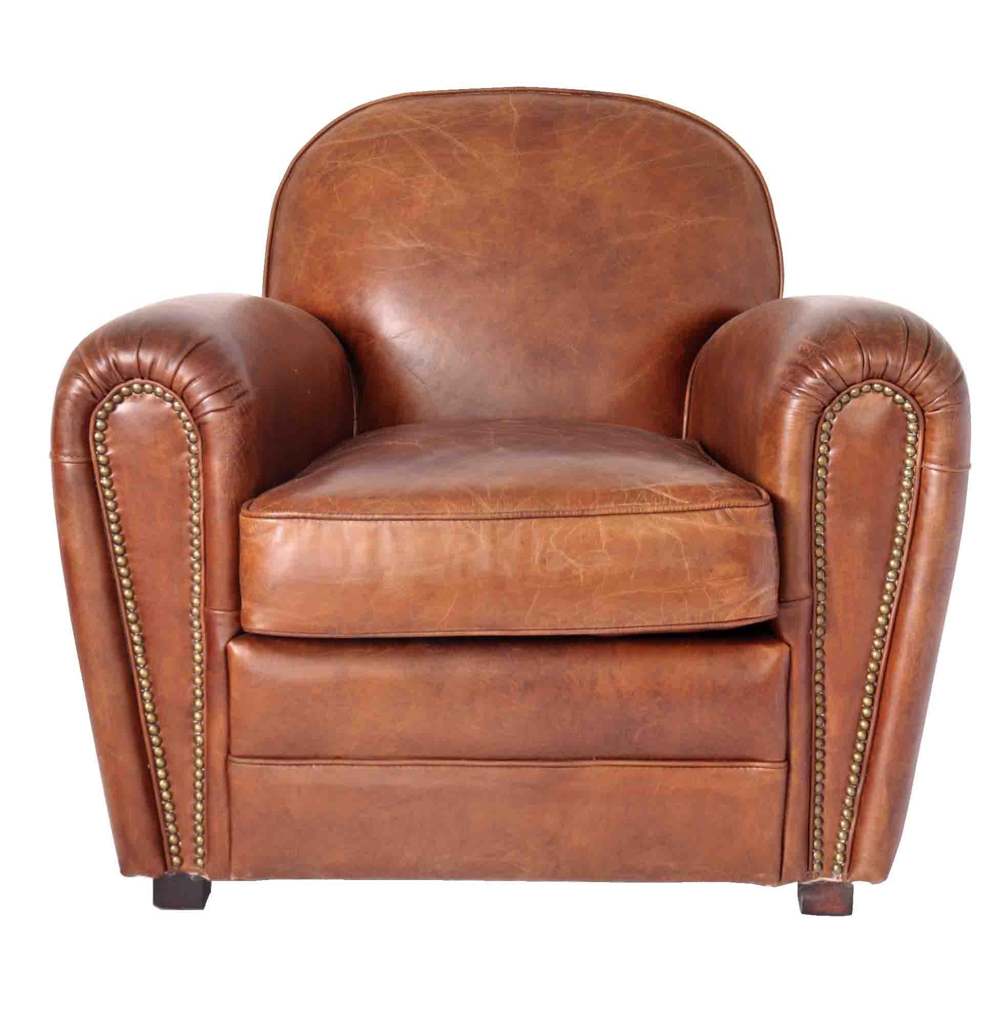 fauteuil club cuir vintage