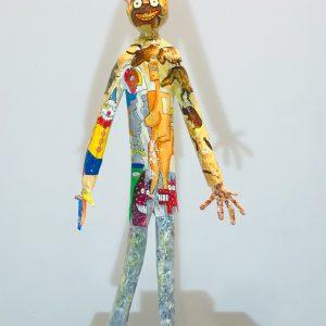 sculpture en papier et peint