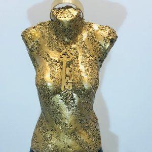 sculpture en copeaux de bronze