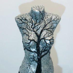 sculpture en copeaux alu