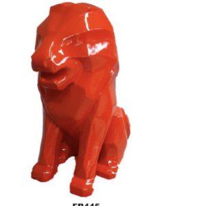 lion assis en résine