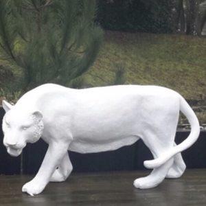 tigre en fibre de verre blanc