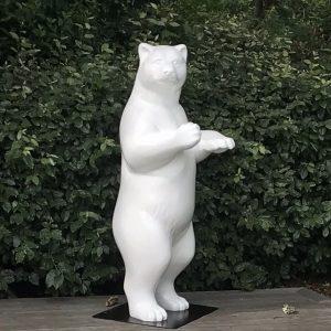 ours debout en fibre de verre blanc