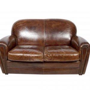 canapé club cuir vintage