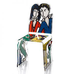 chaise plexi les amoureux