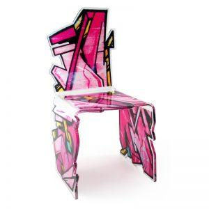 chaise plexi street art