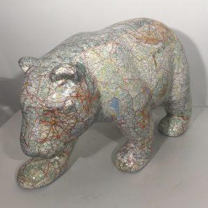ours en résine collages