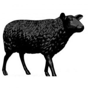 mouton en résine noir