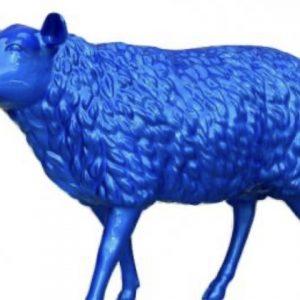 mouton en résine bleu