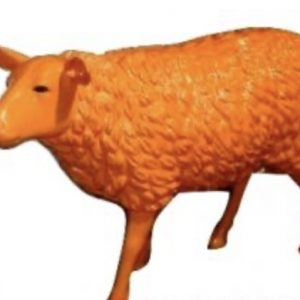 mouton en résine orange