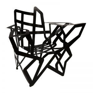 fauteuil acier noir artiste