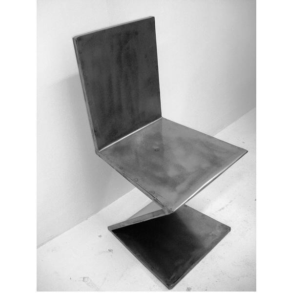 chaise acier artiste