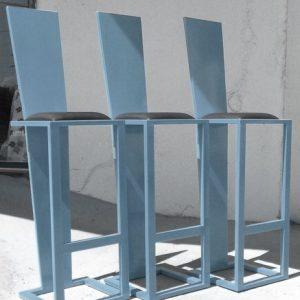 tabouret acier artiste