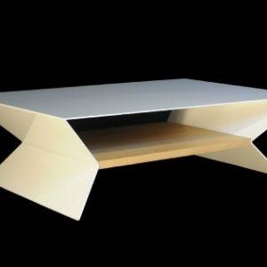 table basse design alu de création