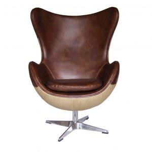 fauteuil jacobsen cuir vintaget