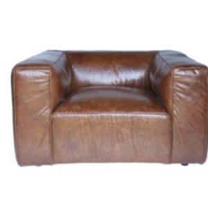fauteuil club design cuir vintage