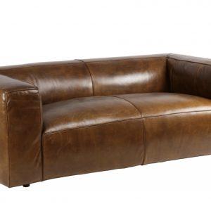 canapé club design cuir vintage