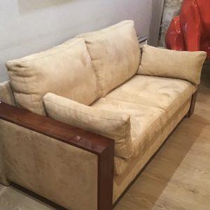 canapé art déco bois palissandre tissu