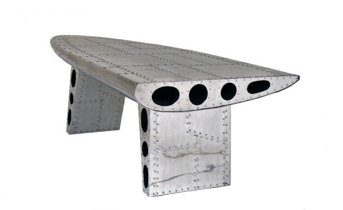 table basse alu riveté