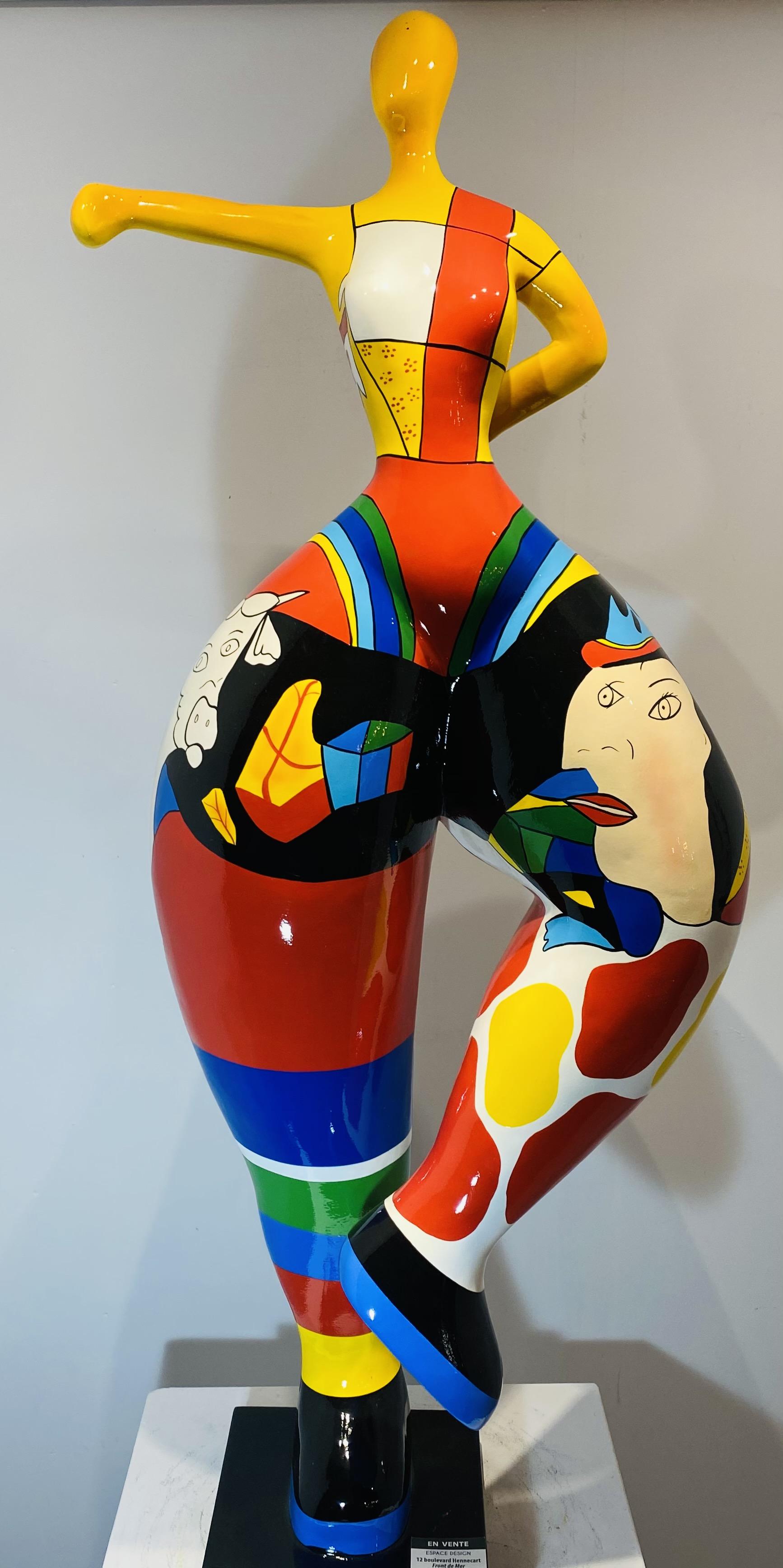 sculpture danseuse en résine personnalisée