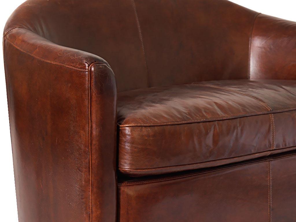 canapé cuir vintage
