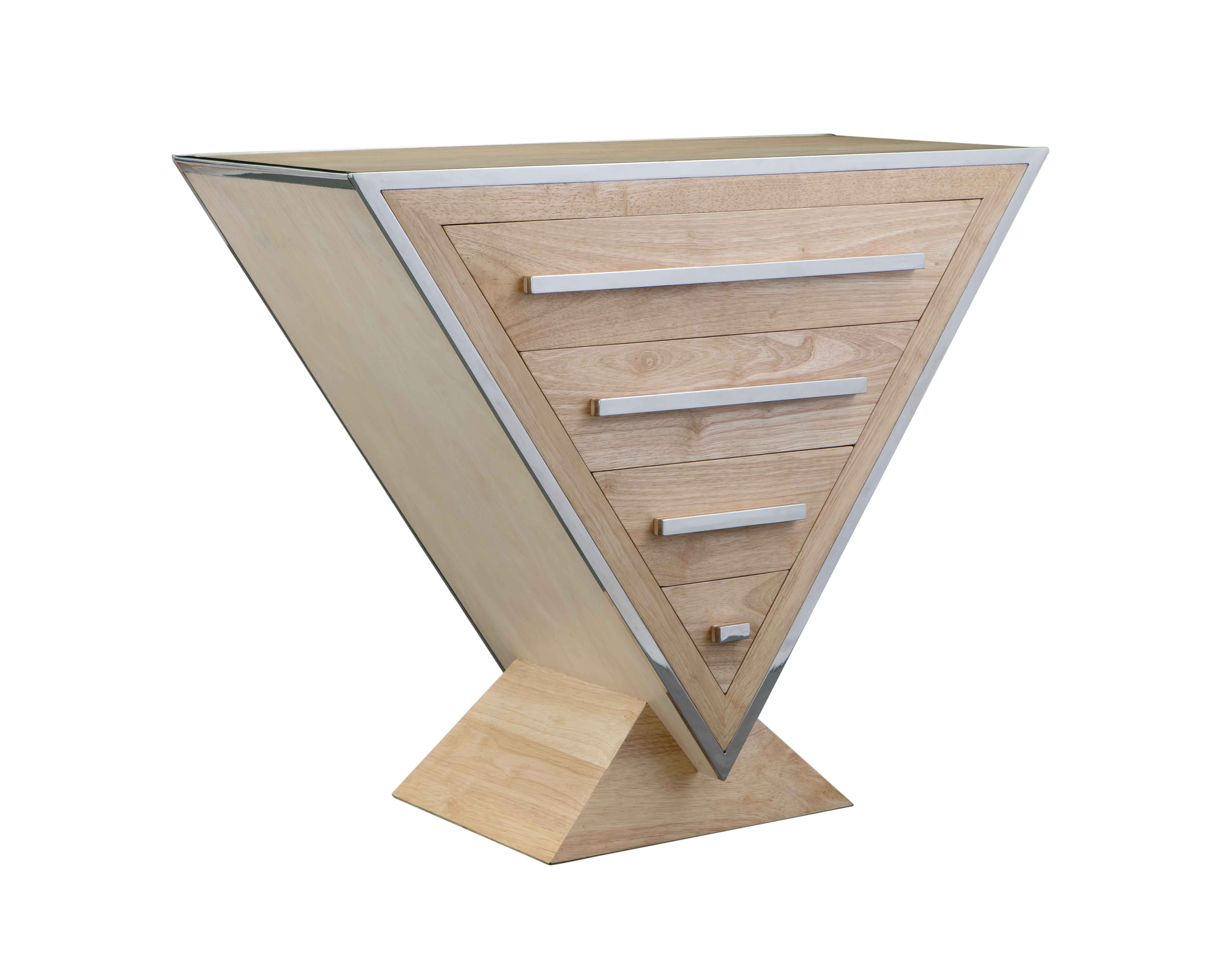 commode-bois-laque-bois-triangle