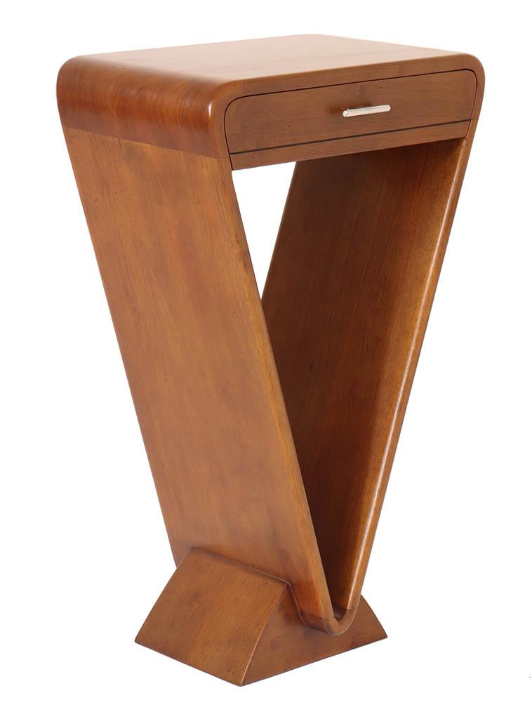 console design 1 tiroir bois