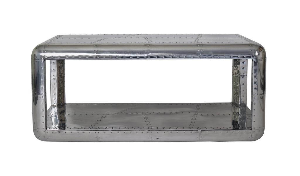 table basse en alu riveté