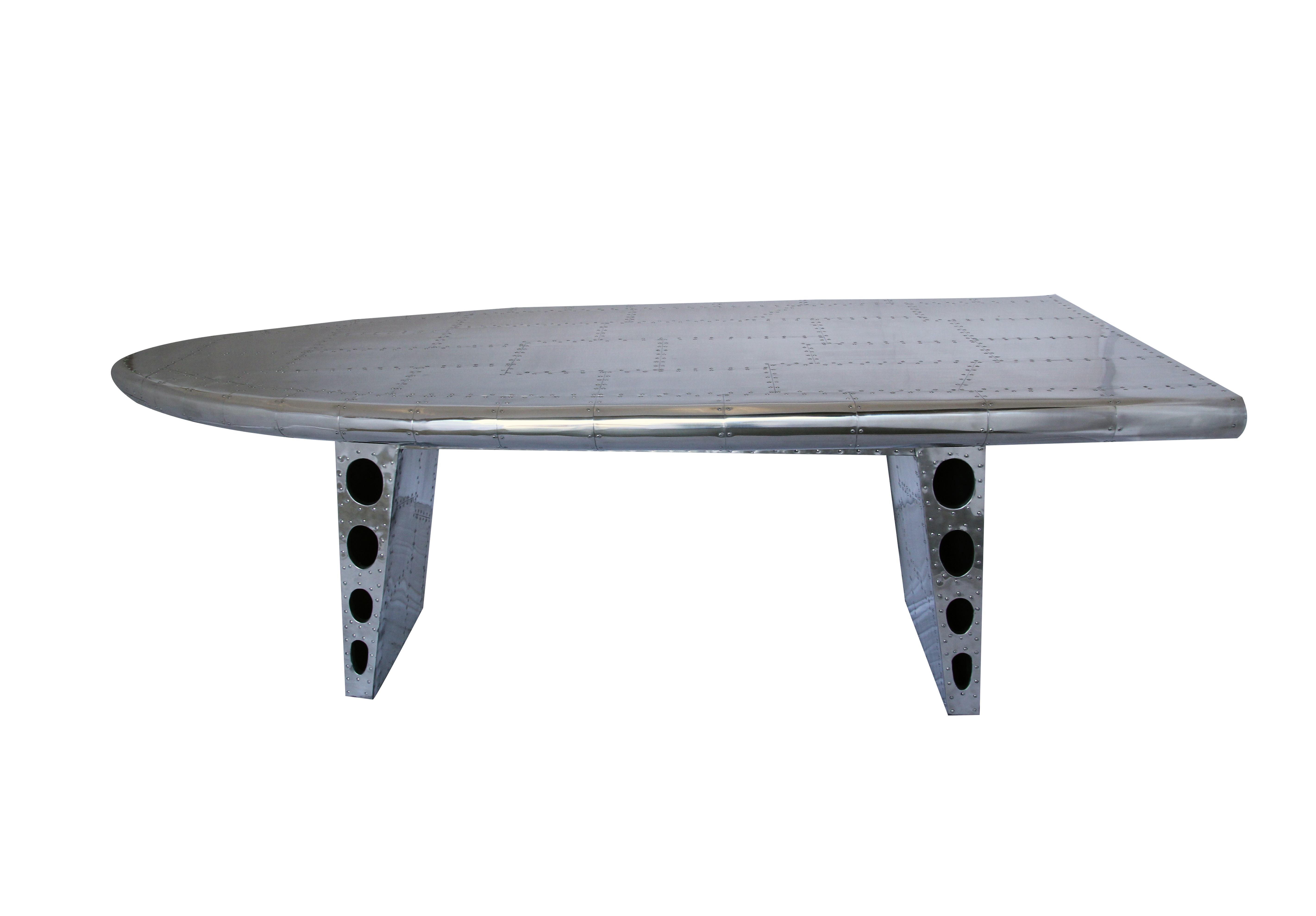 grande table aile d'avion en alu riveté