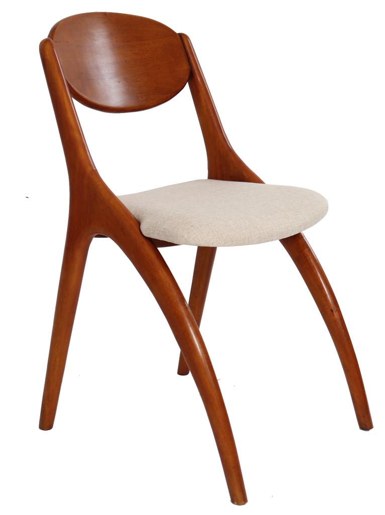 chaise scandinave bois et tissu