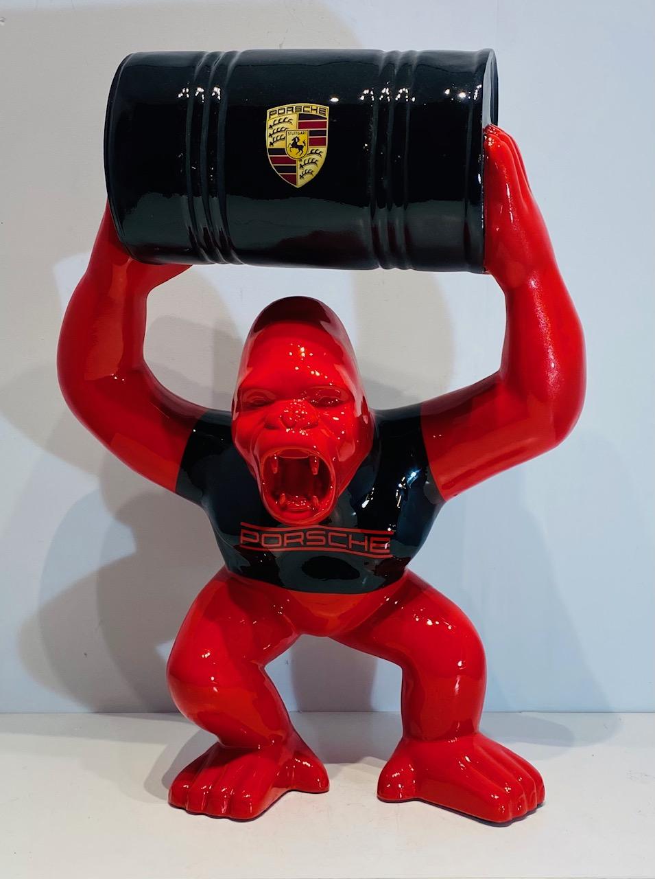 gorille resine personnalisé tonneau